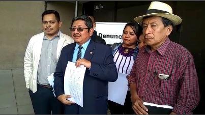 Sector Campesino denuncia al presidente Jimmy Morales por discriminación y difamación