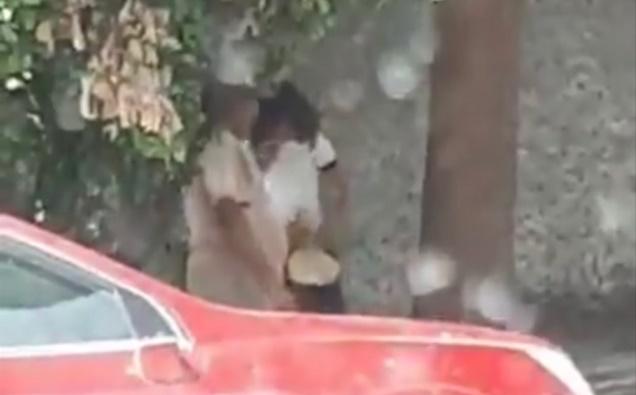 ¡INDIGNANTE! En México captan a taquero tocando y besando a niña a cambio de tacos