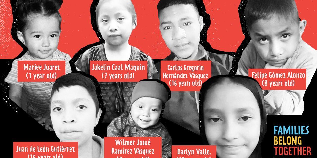 In Memóriam: Siete pequeños migrantes que sus corazones dejaron de latir en manos de la patrulla fronteriza