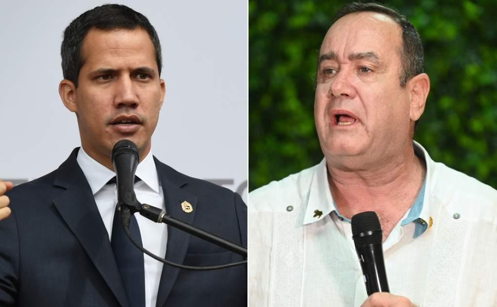 El compadrazgo de Giammattei con Guaidó