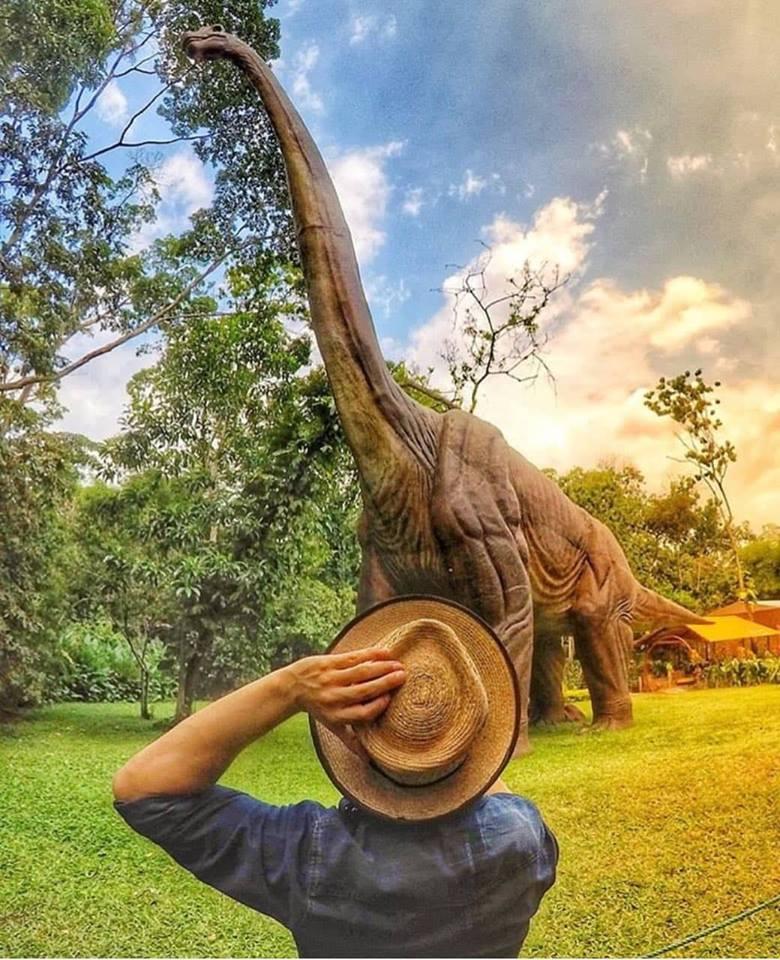 Parque de diversiones con temática de dinosaurios en Reu