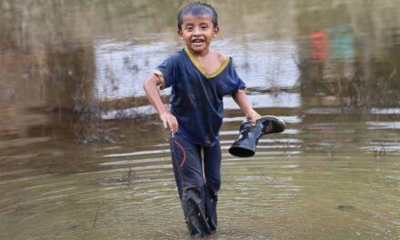 Tras meses bajo el agua, Campur resurge