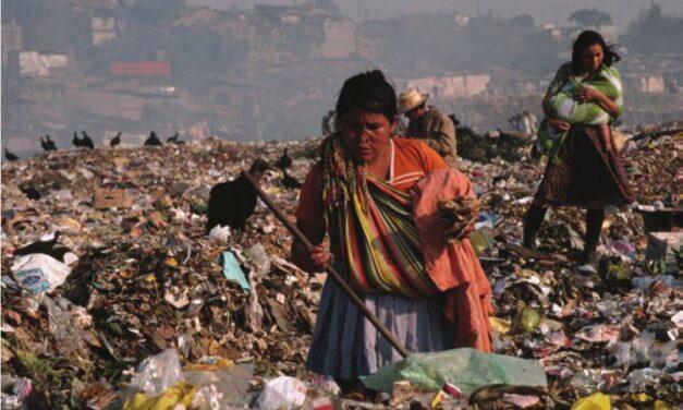 Degradación ambiental en el centro de la ciudad