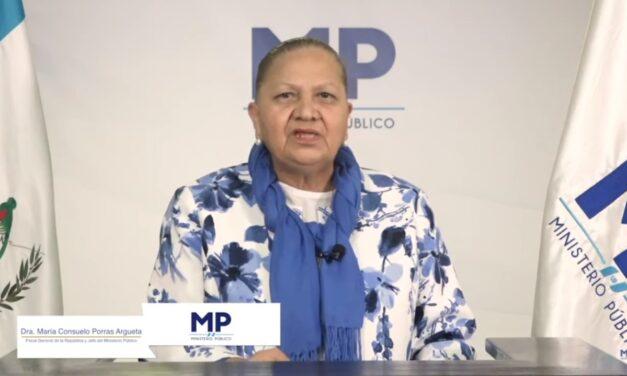 Consuelo Porras se jacta de su trabajo al frente del MP